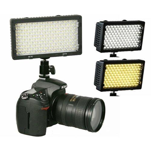 Professional 240 LED Bi Color Video Light Panel l W/ Color Temperature Switch 3200K-5400K & Brightness Dimmer CN240CH-0