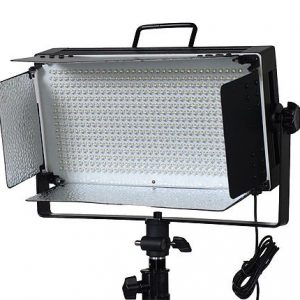 500 LED Video Light With Dimmer Switch XLR Pin Led Lighting Kit Light Kit With Barndoor By Fancierstudio FL500-1097