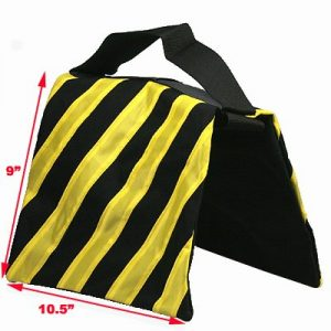 Heavy Duty Light Stand SANDBAG HEAVYDUTY SADDLEBAG DESIGN 4 BAGS HOLDS 20LBS OF SAND NEW 4YELL-1404