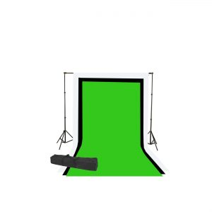 2000 Watt Photo Video Lighting Kit with Hairlight Boomstand U9004SB-10x12BWG-210