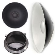 "22"" Photography Studio Light Lighting Beauty Dish Reflecto Disc for Travelite Bowen w/ Grid A121Honey-0"