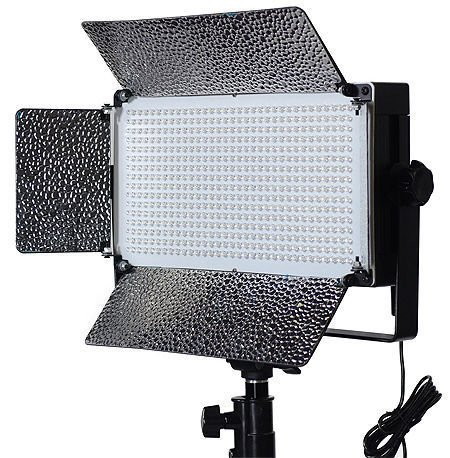 500 LED Video Light With Dimmer Switch XLR Pin Led Lighting Kit Light Kit With Barndoor By Fancierstudio FL500-0