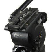 Fancierstudio Professional Video Camera Tripod FC-370 Pro Video Camera Tripod with Fluid Head By Fancierstudio FC-370-303