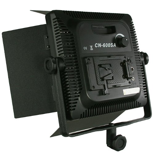 2 x Dimmerable 600 LED Video Photo Studio Lighting Lite Panel with Stands, Sony V mount, 110V-230V-1590