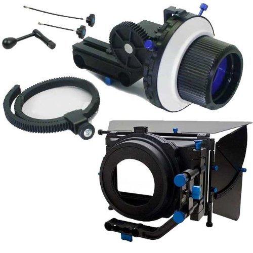 Professional DSLR RIG Shoulder Mount Follow Focus Whips, Crank, Matte Box Support System Kit Rig DSLR RLO3-1104