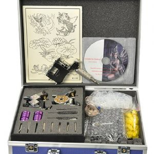 Premium tattoo kit with rotary gun, with tattoo power supply needles and more by Fancierstudio A06-0