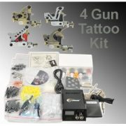 Complete Tattoo Kit 4 Tattoo Machine Kit With Power Supply And Tattoo Needles By Fancierstudio A03-0