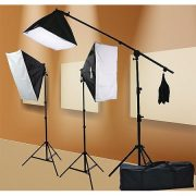 2000 Watt Lighting Kit With Boom Arm Hairlight Softbox Lighting Kit 9004SB-809