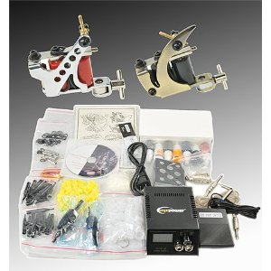 Complete Tattoo Kit 2 Tattoo Machine Kit With Power Supply And Tattoo Needles By Fancierstudio A04-998