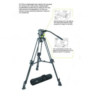 Fancierstudio Professional Video Camera Tripod FC-370 Pro Video Camera Tripod with Fluid Head By Fancierstudio FC-370-304