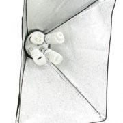 Fancierstudio 2400 Watt Photo Studio Kit Light Kit Lighting Kit With 6'x9' Black White Muslin Backdrop and Background Stand By Fancierstudio UL9004S3-69BWG-574