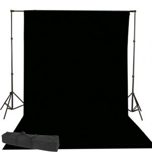10x20 Black muslin backdro