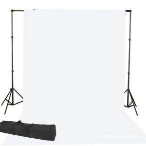 white muslin backdrop