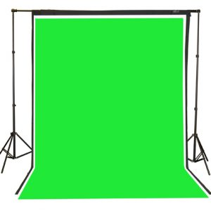 Fancierstudio 2000 watt lighting kit softbox light kit video lighting kit with Background stand 6'x9' Black, White and Chromakey green backdrop by Fancierstudio UL9004SB 6x9BWG-564