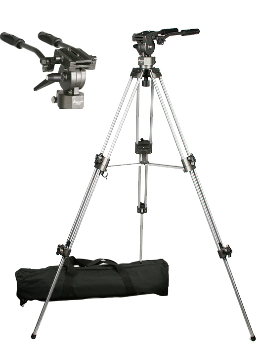 Professional 75mm Video Camera Tripod with Fluid Drag Head FT9901-95