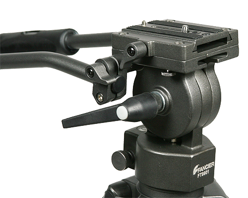 Professional 75mm Video Camera Tripod with Fluid Drag Head FT9901-97