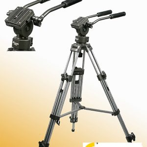 Professional 75mm Video Camera Tripod with Fluid Drag Head FT9901-0