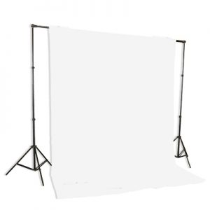 background stand white muslin backdrop