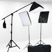 Fancierstudio Light Kit 2000 Watt Photo Video Lighting Kit with Hairlight Boomstand by Fancierstudio U9004SB-10x12BWG-572