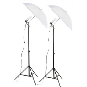 K103 Studio Lighting Kit with Carrying Case with 6x9 Foot Black and White Muslin Backdrop-497