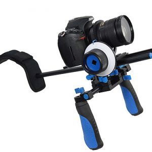 Camcorder Steady Shoulder Rig Follow Focus DSLR Video Cam Camera RL02FRSET-336