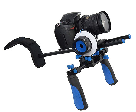 Camcorder Steady Shoulder Rig Follow Focus DSLR Video Cam Camera RL02FRSET-0