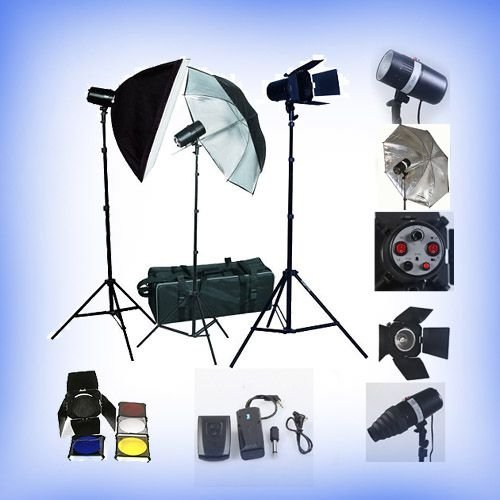 Fancierstudio PREMIUM Photography Studio Umbrella Softbox Lighting 3 Lights 3 Light Kit FAN023-0