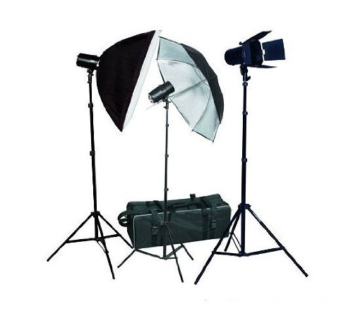 Fancierstudio PREMIUM Photography Studio Umbrella Softbox Lighting 3 Lights 3 Light Kit FAN023-471