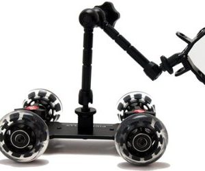Pico Flex Dolly Kit Digital DSLR Skater Camera Dolly Slider Table Top Dolly Kit by Fancierstudio PICOKIT-597