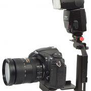 Fancierstudio Ultra Compact Flash Bracket Off Camera Flash Bracket Quick Flip Flash Bracket H6604-614