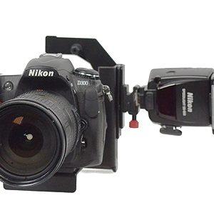 Fancierstudio Ultra Compact Flash Bracket Off Camera Flash Bracket Quick Flip Flash Bracket H6604-610