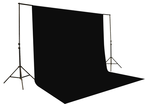 10x12 Black Muslin Video Photography Studio Portrait Backdrop Background Support System UL30 10x12 Black-0