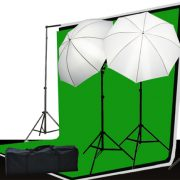 3 muslin backdrop lighting kit