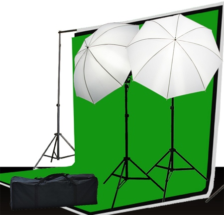 3 muslin backdrop lighting kit