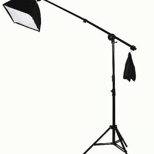 Fancierstudio 2000 watt lighting kit softbox light kit video lighting kit with Background stand 6'x9' Black, White and Chromakey green backdrop by Fancierstudio UL9004SB 6x9BWG-560