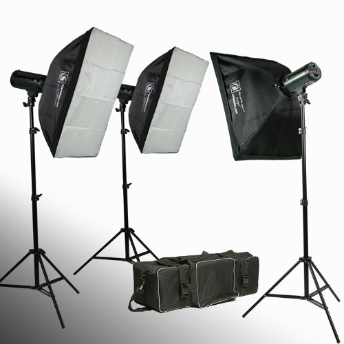 900 watt strobe flash kit