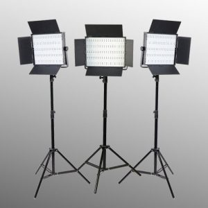3 x 900 LED with Sony V mount Adapter Video Lite Panel LED Light Kit-0