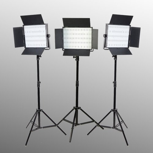 3 x 900 LED with Sony V mount Adapter Video Lite Panel LED Light Kit-1551
