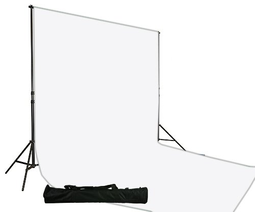 10 x 20 White Muslin Backdrop Background Stand Kit-0