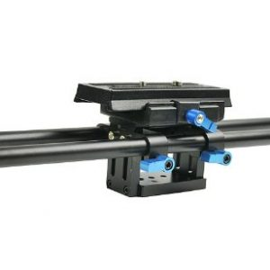 Digital DSLR Rail System 15mm Rod Rig Base Plate for HD DSLRs, Supports Follow focus Railsystem -1204