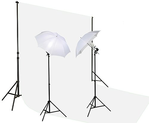 10x20ft White 800 Watt Video Photography Portrait Lighting Kit K15 10x20White-0