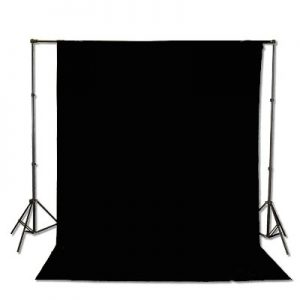 Support System Kit With 6ft x 9ft Black Muslin Backdrop 9115+6x9B-0