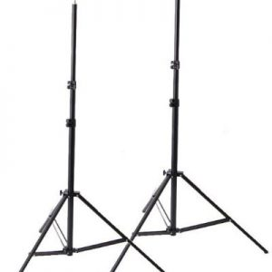 H4049 Triple Lighting Video Photography Light Kit 2 Muslin Support Stands Kit with Case-1462