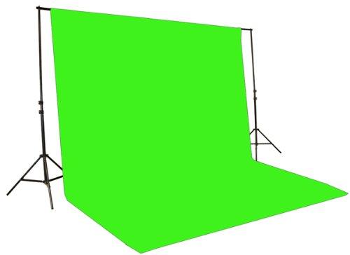 2400 Watt Chromakey Green Screen Video Lighting Kit VL9004S3 +TB Green Kit-112