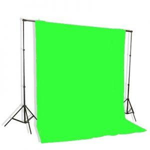 Support System Kit With 6ft x 9ft Chromakey Green Muslin Backdrop 9115+6x9G-0