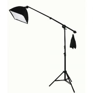 2000 Watt Lighting Kit With Boom Arm Hairlight Softbox Lighting Kit 9004SB-811