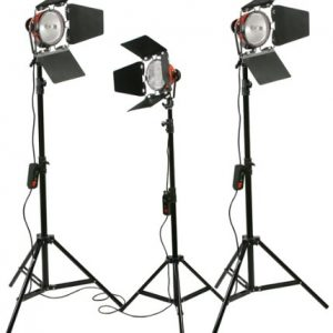 2400 Watt Barndoor Video Lighting Kit Light Kit-221