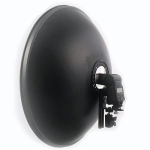 22-Inch Beauty Dish Bracket with White Diffuser and Honeycomb Mount A121BH-834