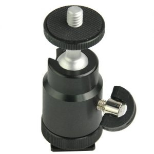 Adjustable Swivel Hot Shoe Mount 1/4-Inch Shoe adapter adjustable angle for Flash, LED light, Camera, Monitor FT9710-0