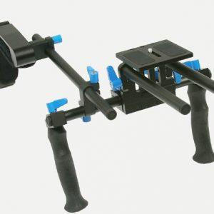 Dual Grip DSLR Camera Video Shoulder Mount Rig Stabilizer Support System 15mm Rod-0